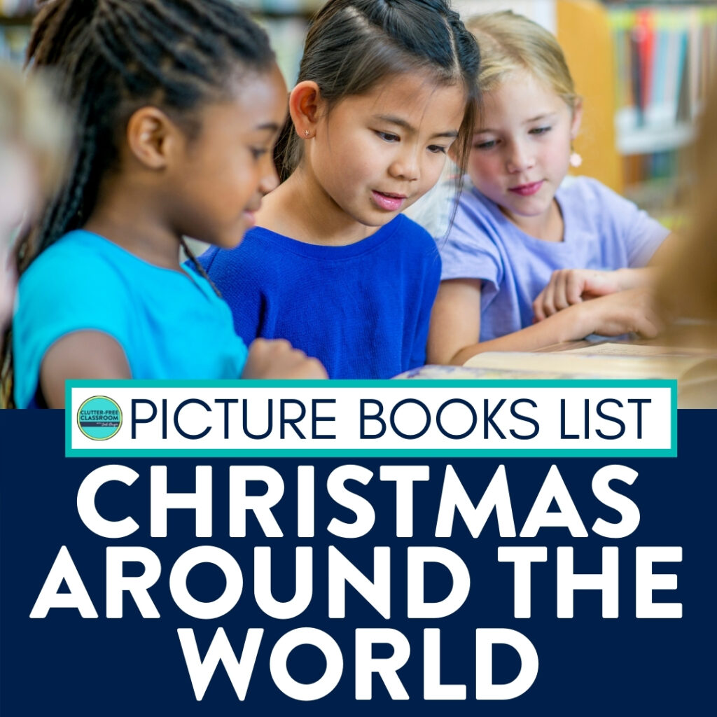 kids reading books about Christmas around the world