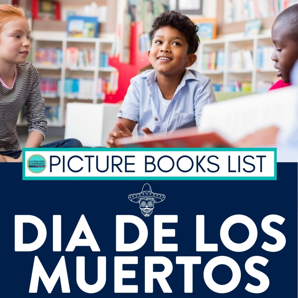 students reading Day of the Dead children's books