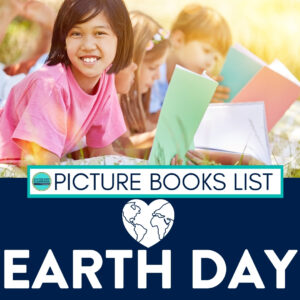 students reading books about Earth Day