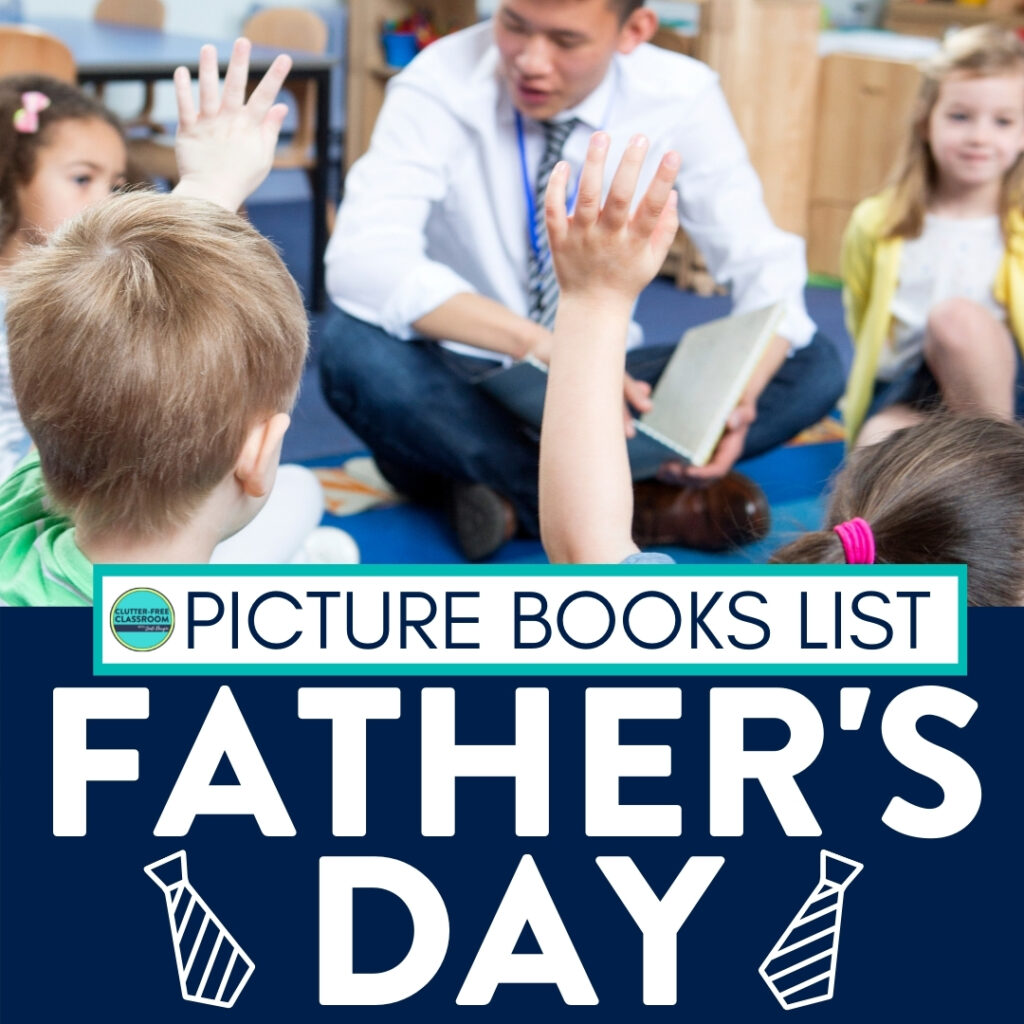 kids listening to a Father's Day read aloud