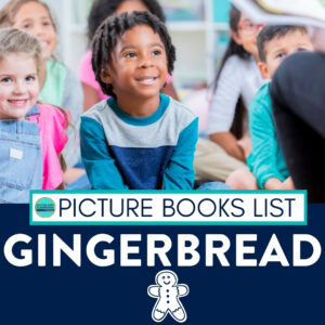 kids listening to gingerbread books being read aloud