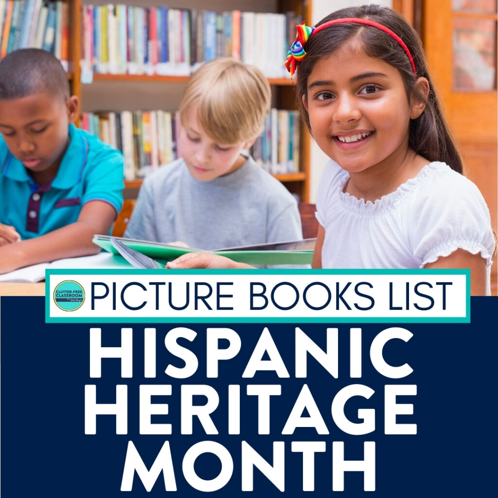 students reading Hispanic Heritage Month books