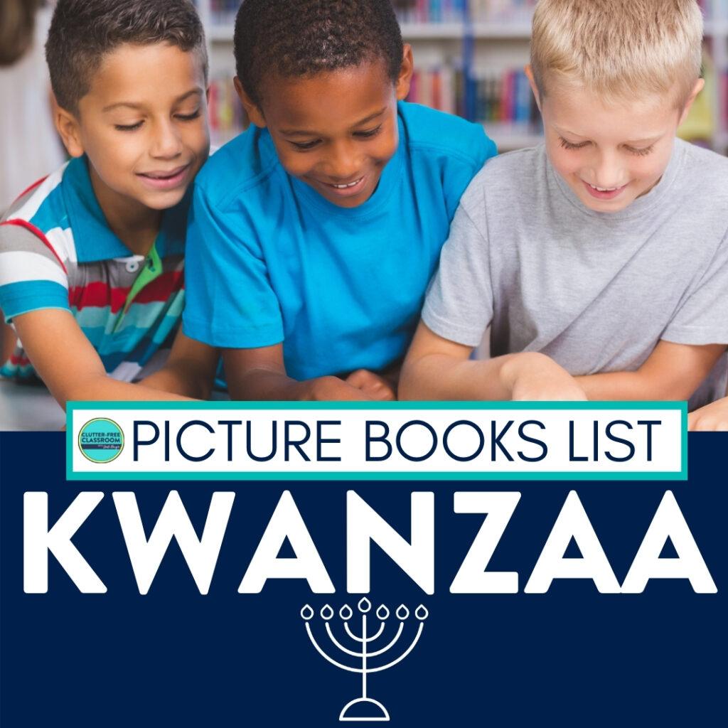 children reading kwanzaa books