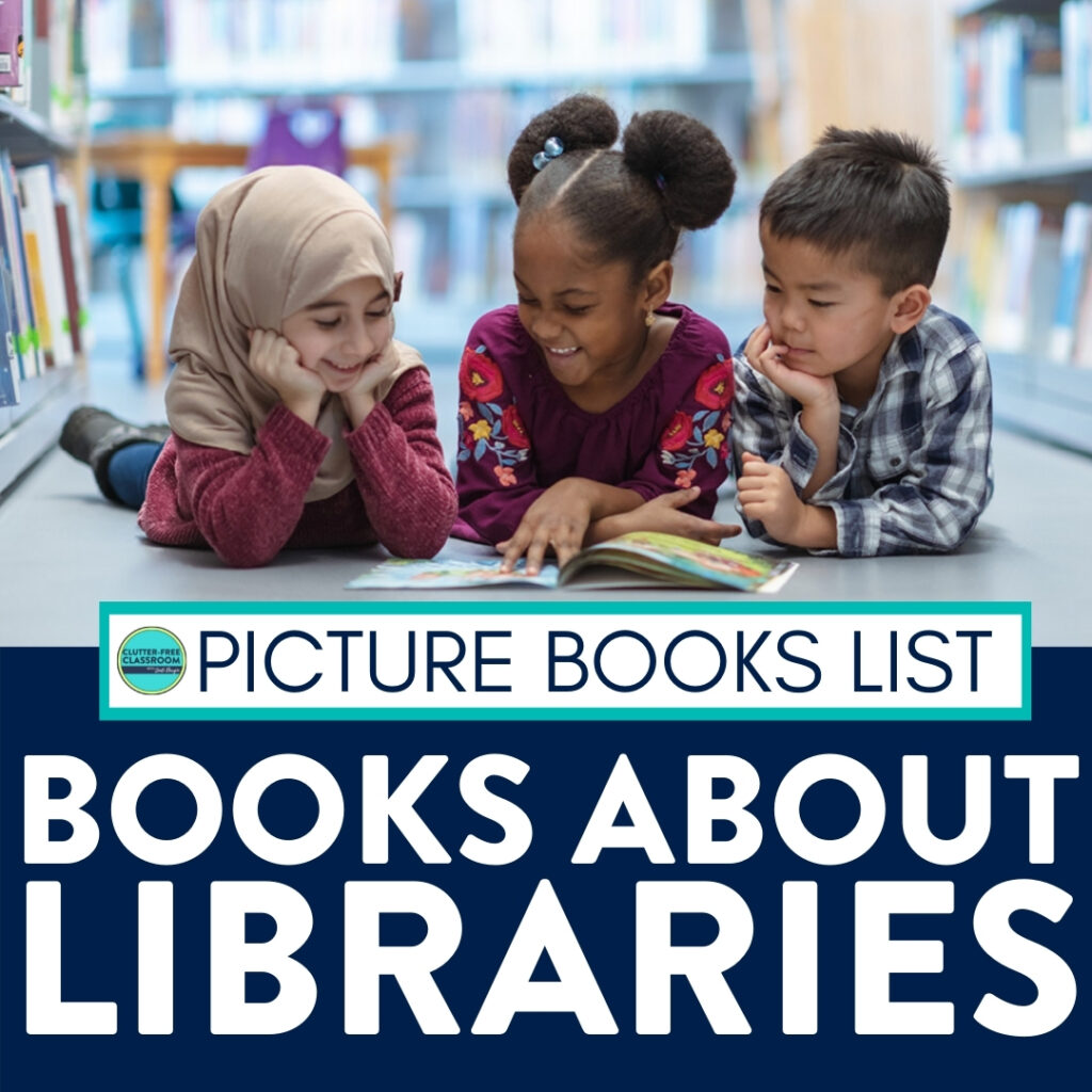 kids reading books about libraries