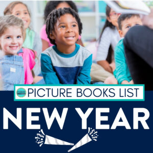 kids listening to a New Year book