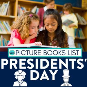 kids reading Presidents Day books