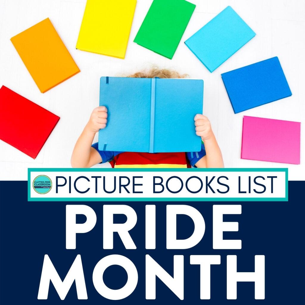 student celebrating pride month