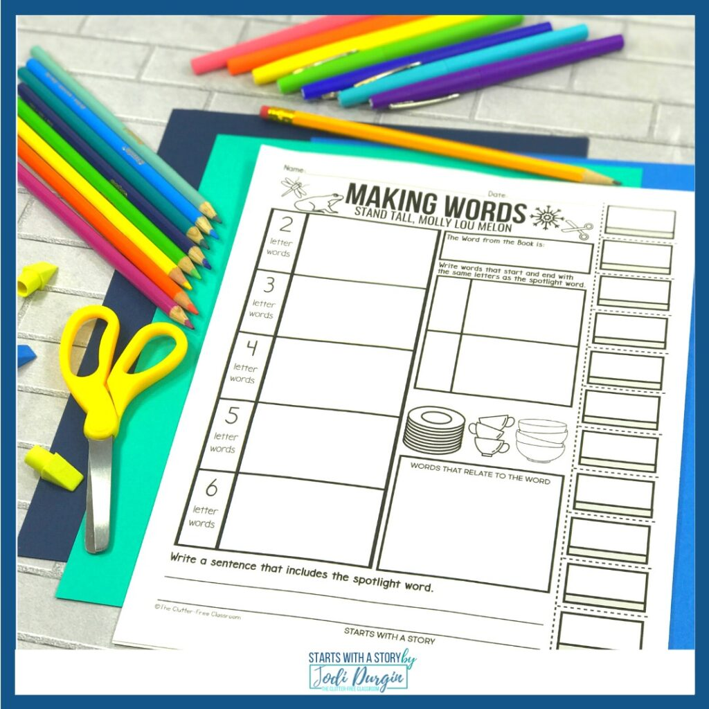 Worksheet for Stand Tall Molly Lou Melon