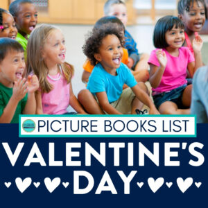 Students listening to a Valentine's Day book