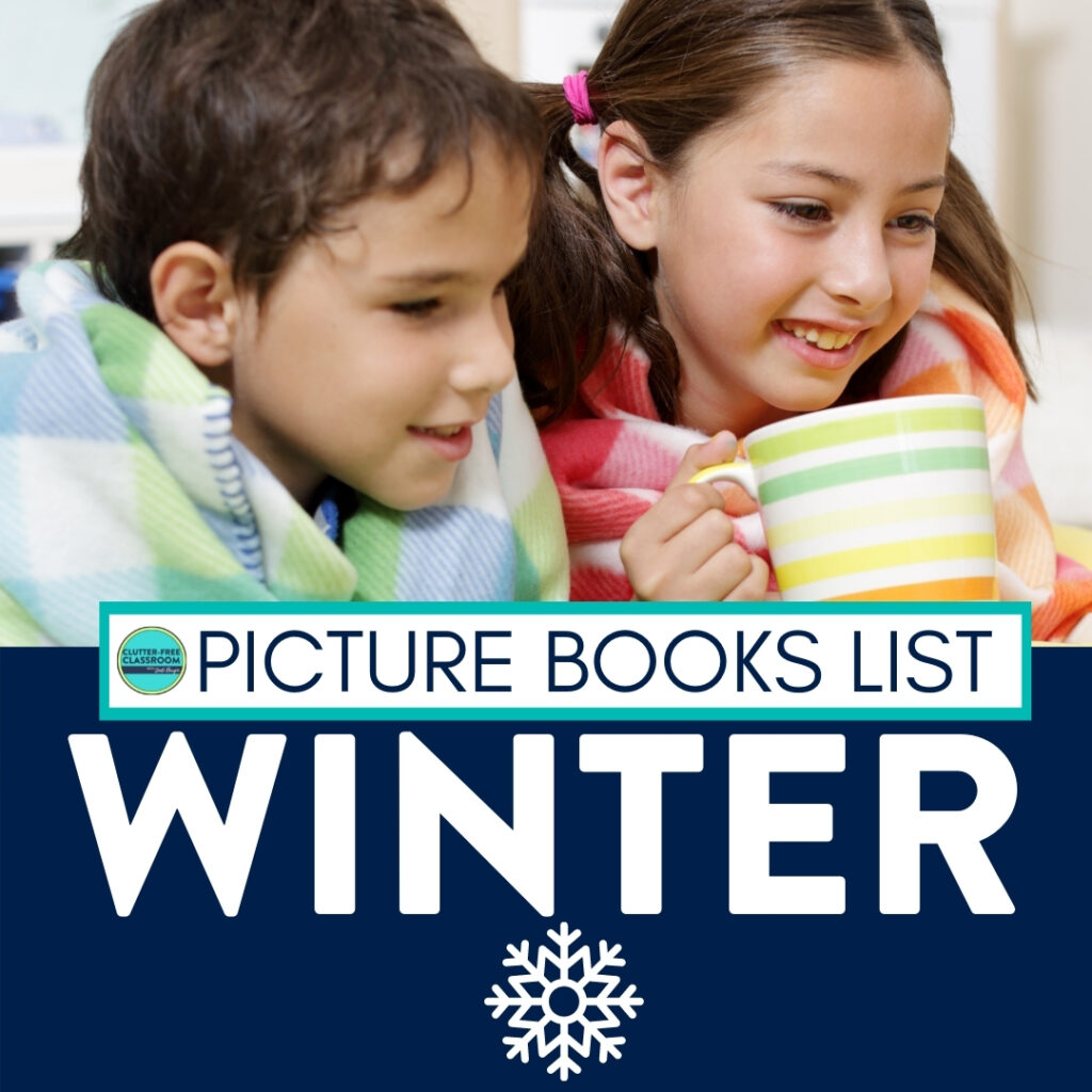 kids reading books about winter