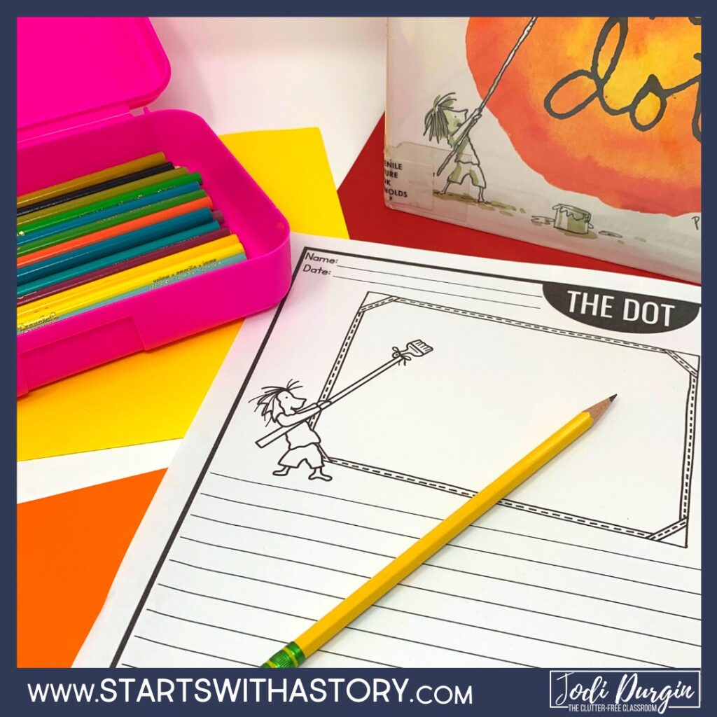 writing paper based on the book, The Dot
