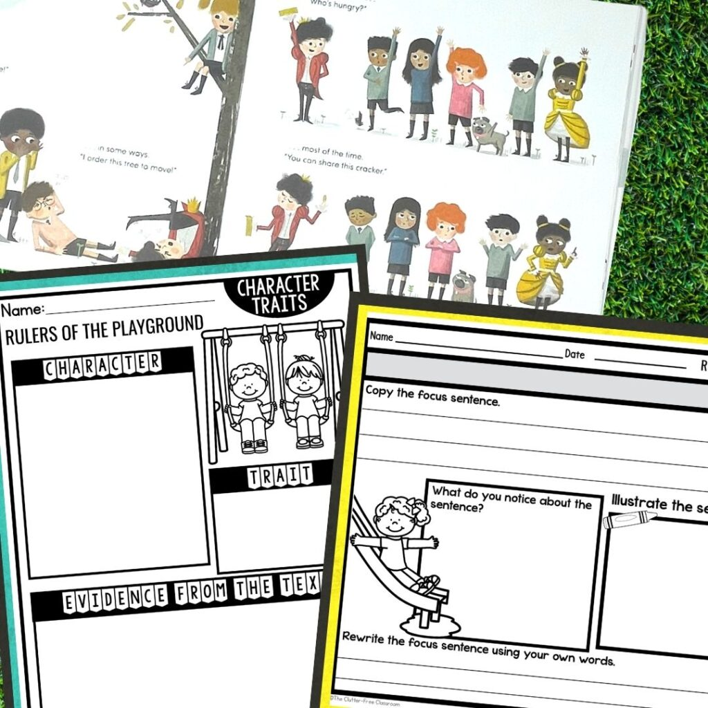 Rulers of the Playground worksheets