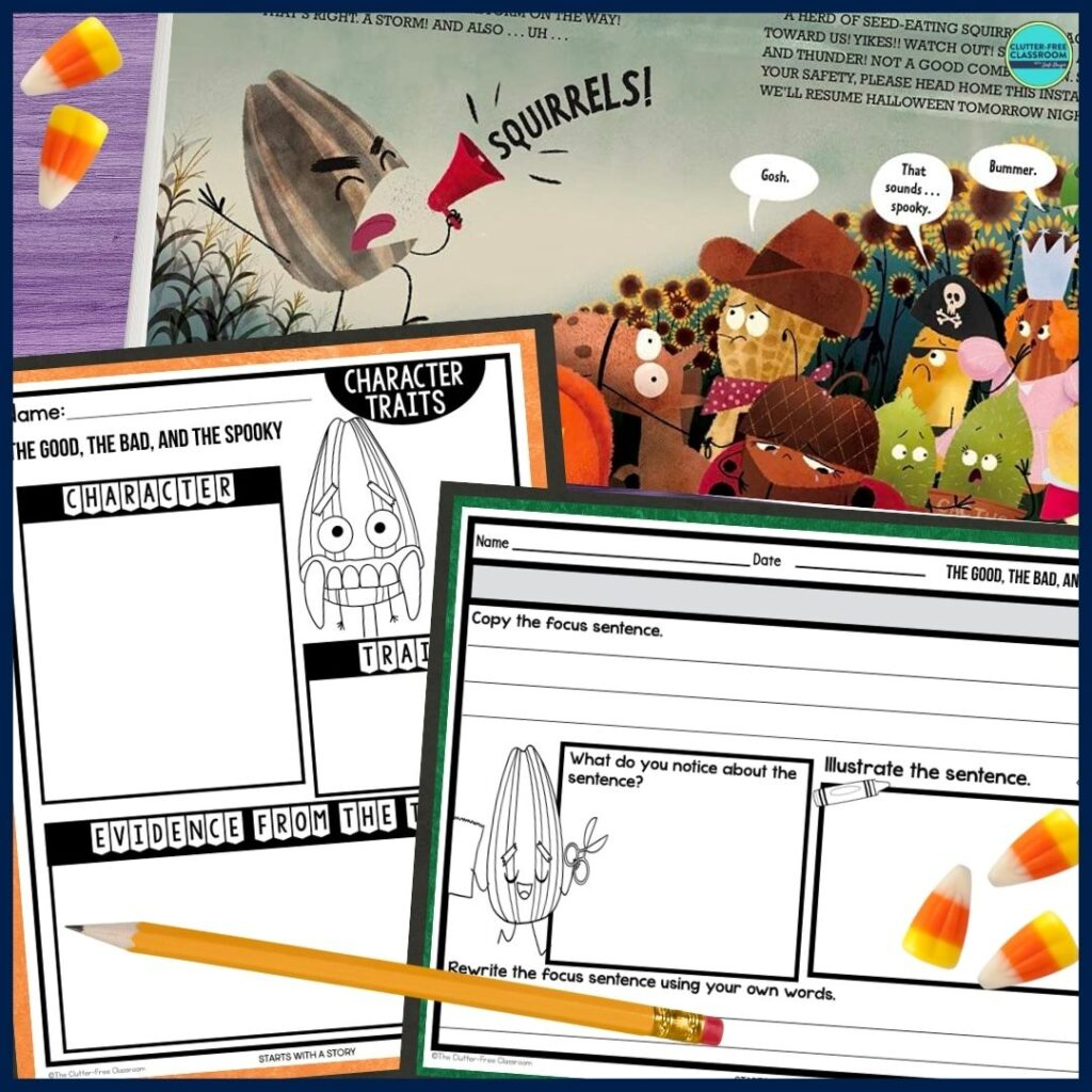 The Good, the Bad, and the Spooky worksheets