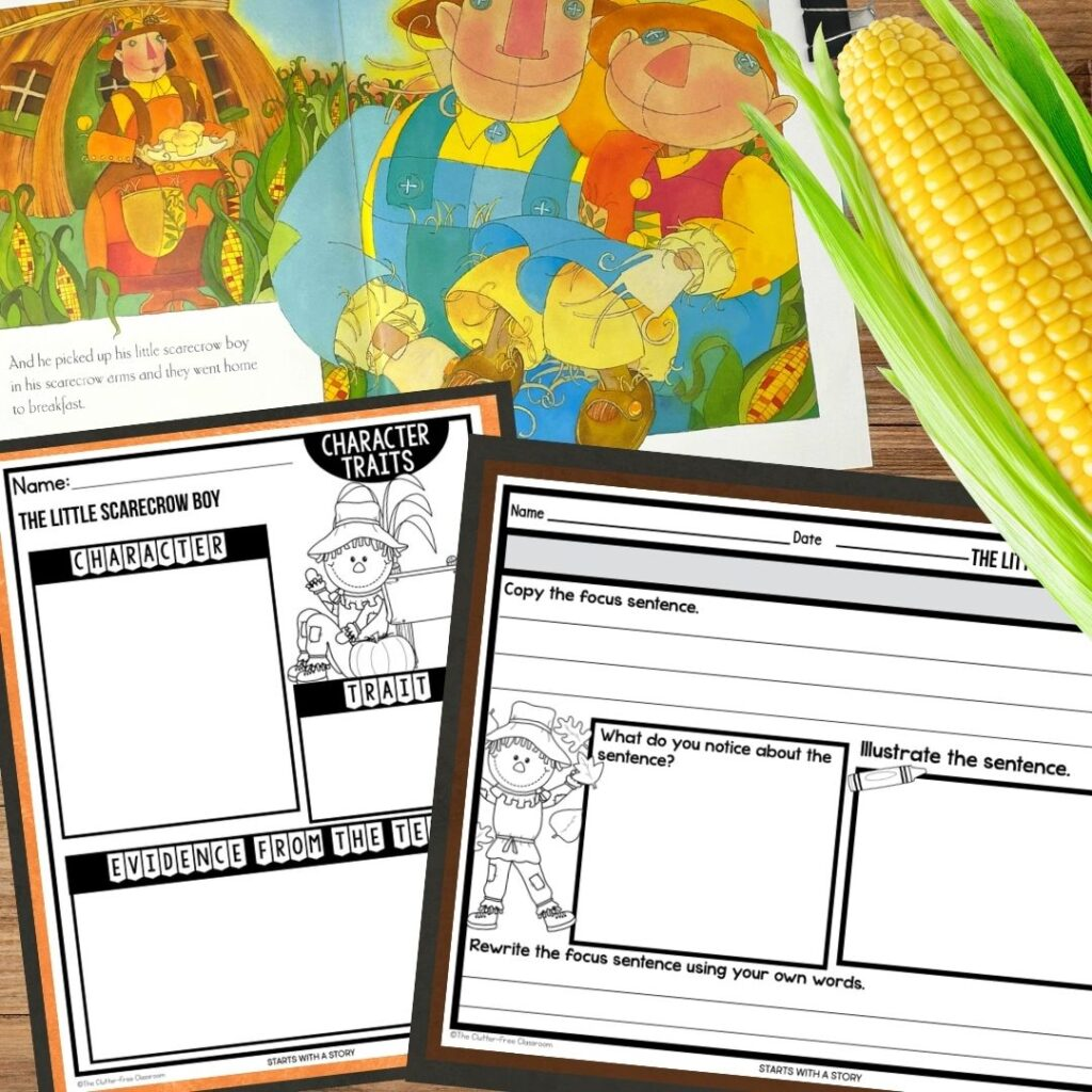 The Little Scarecrow Boy worksheets