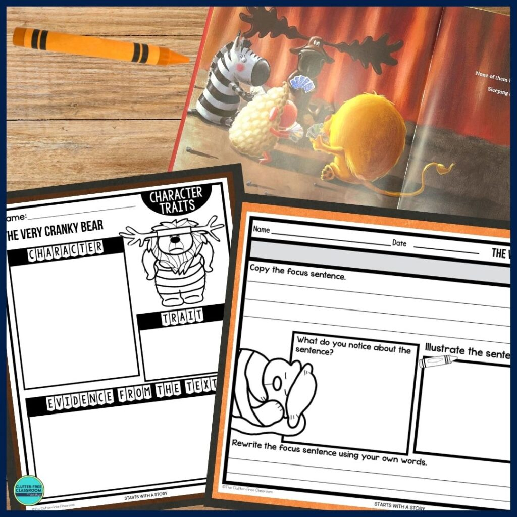 The Very Cranky Bear worksheets